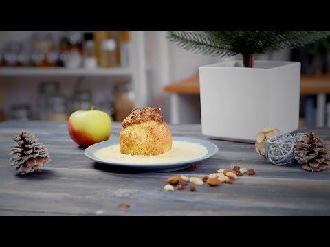 Weihnachtlicher Bratapfel mit Nüssen!